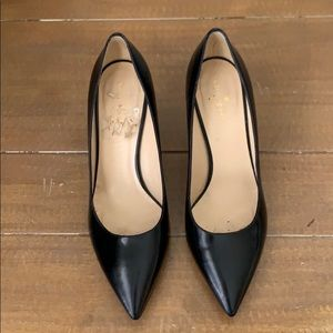 Kate Spade pointed toe leather heels - 9.5